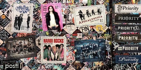 Культура, Почта Финляндии выпустит марки с местными рок-группами | Почта Финляндии выпустит марки с местными рок-группами