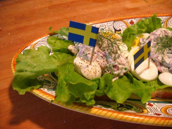 Рецепты, Норвежский салат из сельди - Sildesalat | Норвежский салат из сельди  - Sildesalat