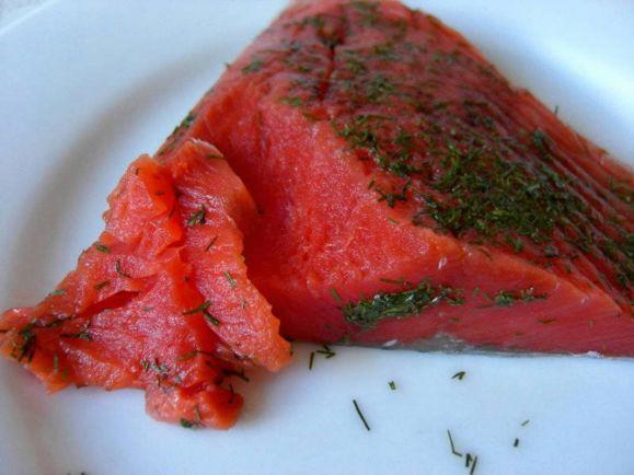 Рецепты, Малосольная семга по-фински | Малосольная семга по-фински