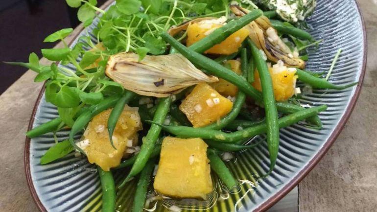 Рецепты, Салат  из сладкого картофеля по-датски | Салат из картофеля с луком и стручковой фасолью