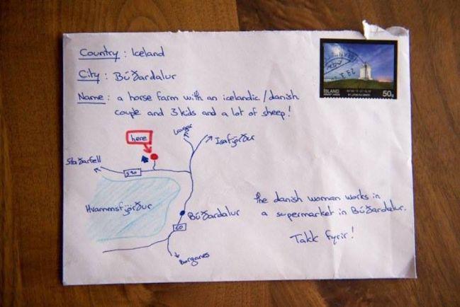 Туризм, Письмо без имени и адреса дошло в Исландии по назначению | Письмо без имени и адреса дошло в Исландии по назначению