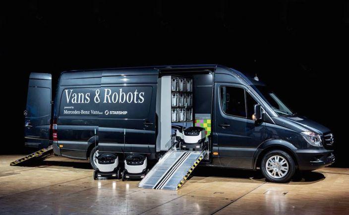 Бизнес, Mercedes-Benz объединяется с эстонским стартапом для создания роботизированной службы доставки | Mercedes-Benz объединяется с эстонским стартапом для создания роботизированной службы доставки