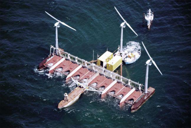 Бизнес, Датская плавучая электростанция вырабатывает электричество одновременно из ветра и волн | Датская плавучая электростанция вырабатывает электричество одновременно из ветра и волн