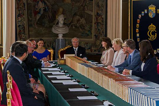 Заседание кабинета по вопросу выбора имени принца. Foto: Kungahuset.se