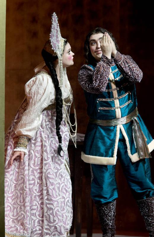 Savonlinna Opera Festival /Борис Годунов 2015 / Анна Иммонен (Ксения), Aртем Грутко (Федор)