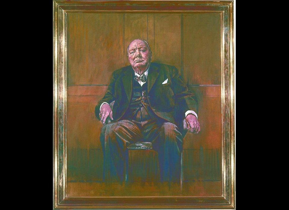 Грехем Сазерленд. Портрет Уинстона Черчилля. 1954 г.