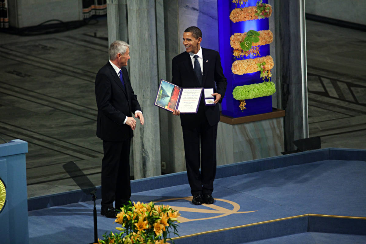 Utenriksdepartementet UD / Obama receives Nobel Peace Prize in Oslo