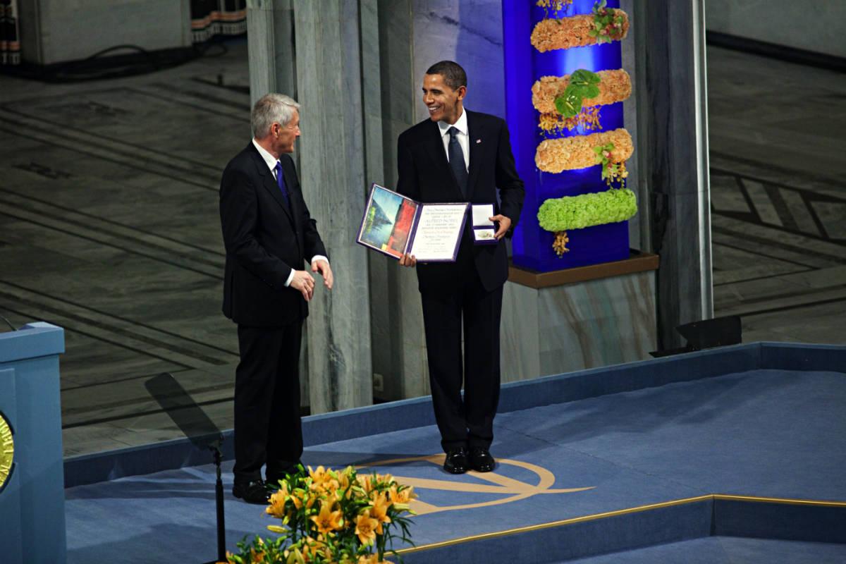 Utenriksdepartementet UD / Obama receives Nobel Peace Prize in Oslo