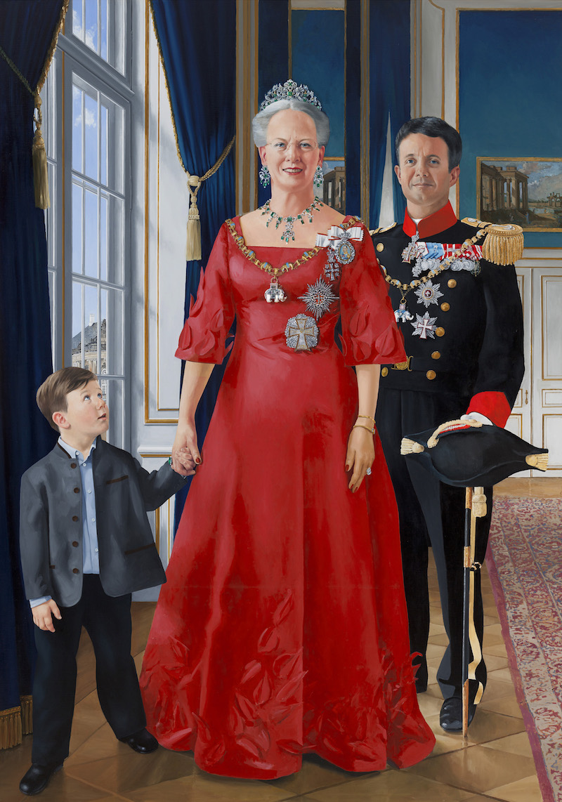 the lost gallery/ STATE PORTRAIT OF THREE GENERATIONS OF THE DANNISH ROYAL FAMILY