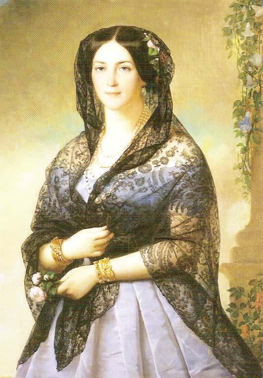 Аврора Карамзина.Худ. Алексис-Жозеф Периньон, 1853
