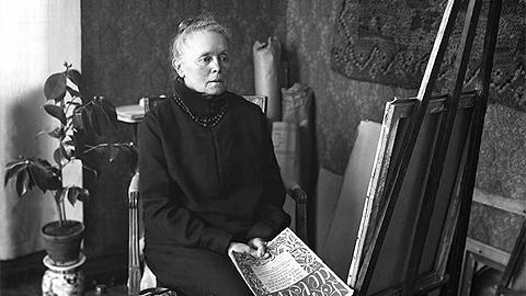 1927 год. В мастерской. Мать Хелене, Ольга Шерфбек
