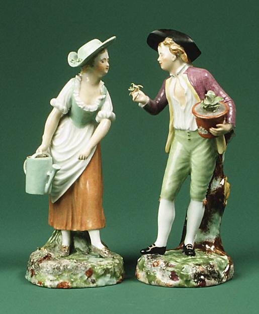 Садовница и садовник. Фарфор. 1786 г. Копенгаген. Дания