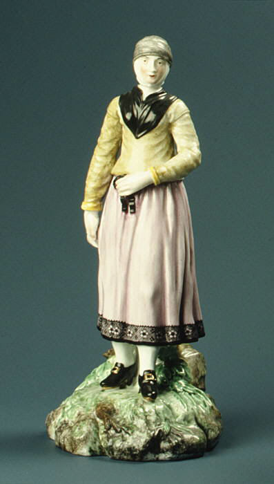Норвежская женщина (Жительница Тромсё). Фарфор. 1780 г. Копенгаген. Дания