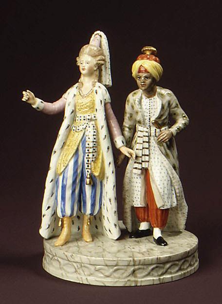 Султана и слуга. Фарфор. 1830 г. Копенгаген. Дания