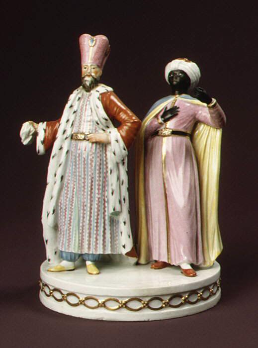 Султан и мавр. Фарфор. 1787 г. Копенгаген. Дания