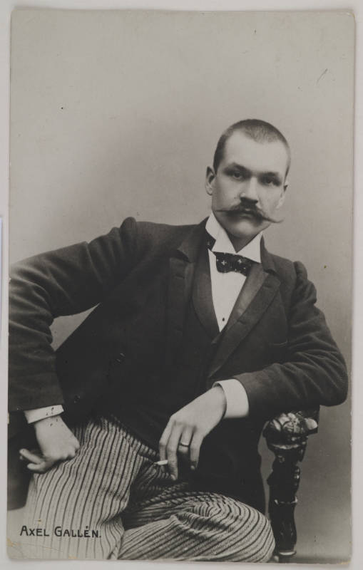Gallen-Kallelan Museo FollowPostcard made of Axel Gallén´s photography studio portrait, Helsinki, 1890.