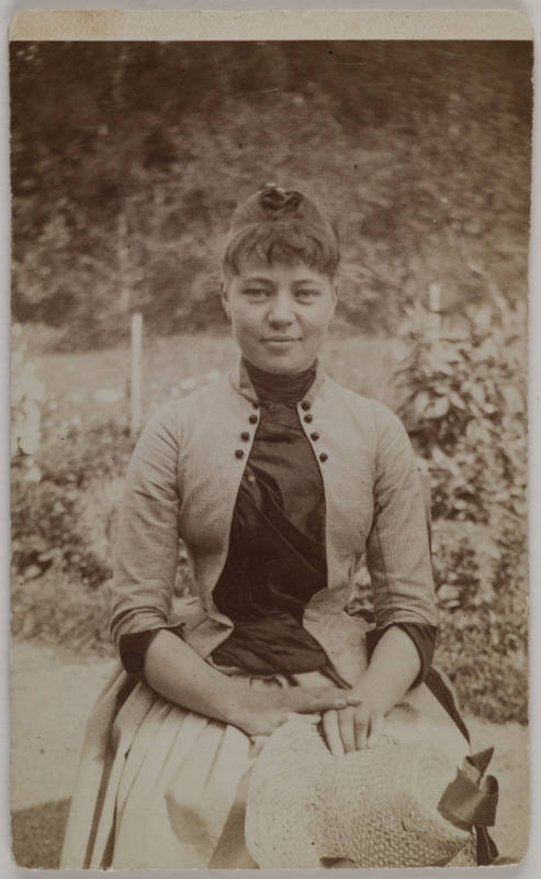 Gallen-Kallelan Museo / Garden portrait of Mary Slöör, Axel Gallén´s wife-to-be, taken by him in Rapola, 1887