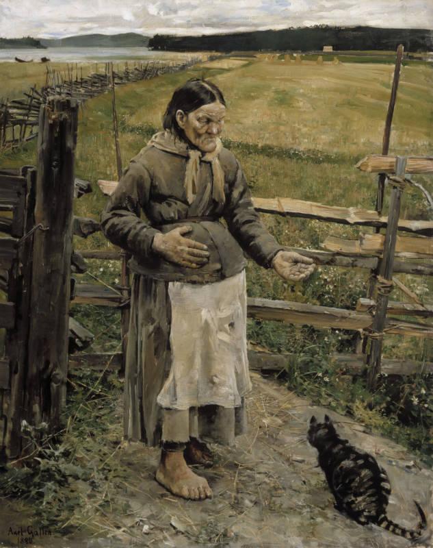 «Старуха и кошка» (1886)