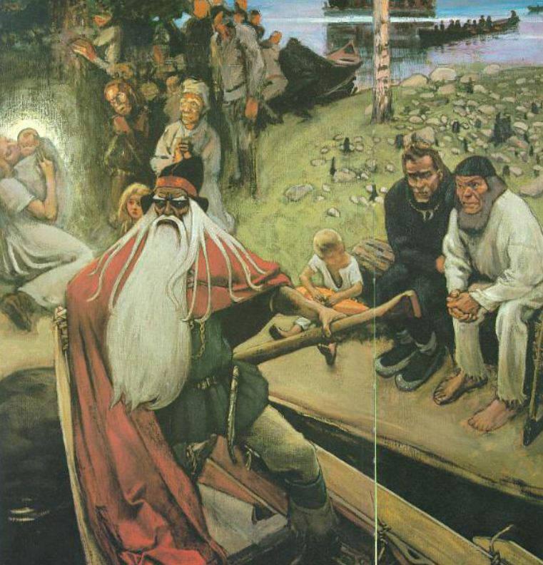 «Отъезд Вяйнямёйнена»(1905)