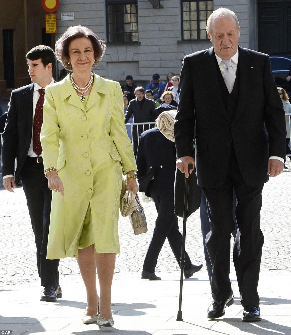 На снимке: бывшие король и королева Испании Хуан Карлос и София тоже были в списке приглашенных на торжества в Стокгольме.