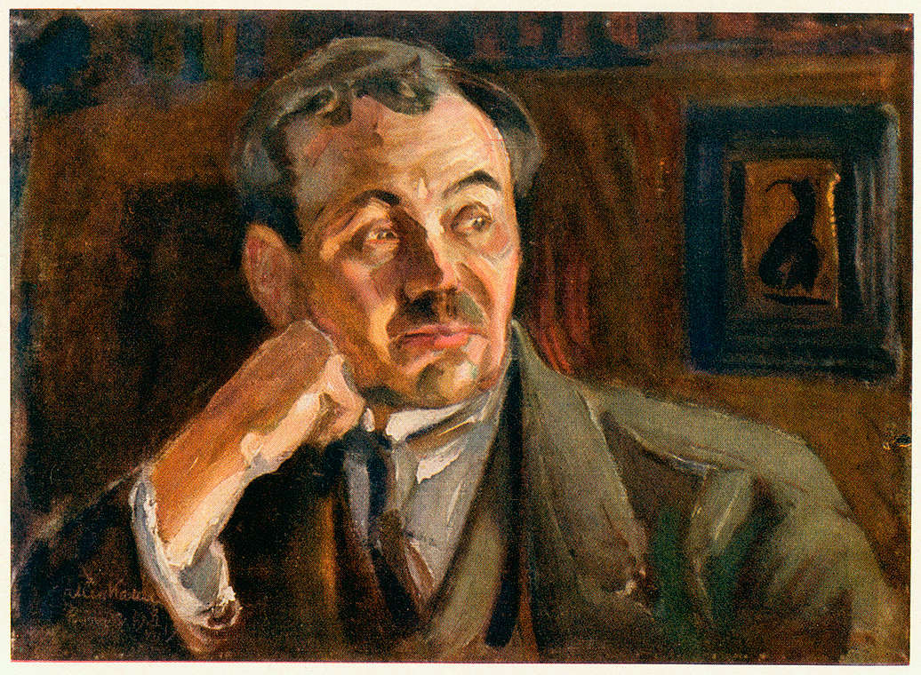 Аксели Галлен-Каллела. Портрет Эйно Лейно. 1917 г.