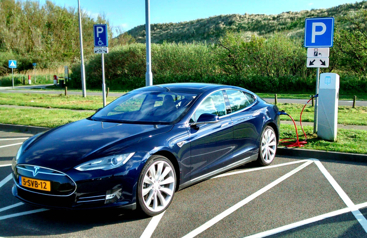 flikr/David van der Mark / Blue Tesla Model S