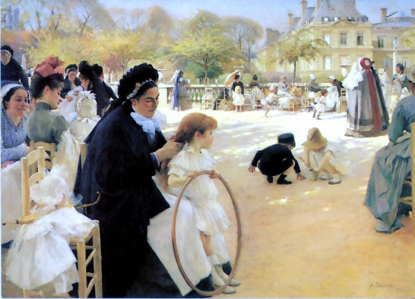 Альберт Эдельфельт. «Люксембургский парк». 1886–1887 гг.