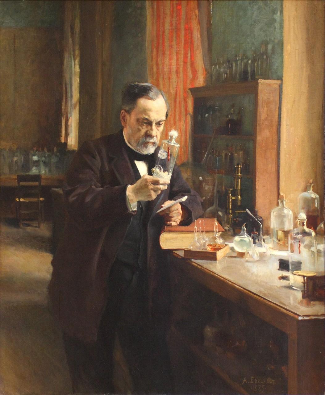 Альберт Эдельфельт. «Портрет Луи Пастера». 1885 г.