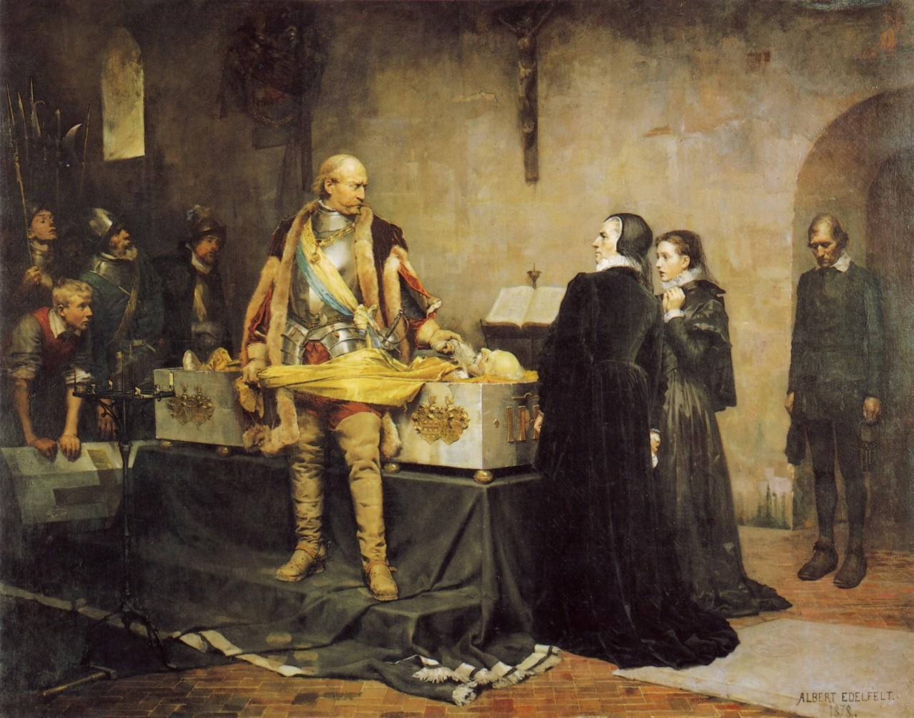 Альберт Эдельфельт. «Надругательство герцога Карла над телом Клауса Флеминга». 1877 г.