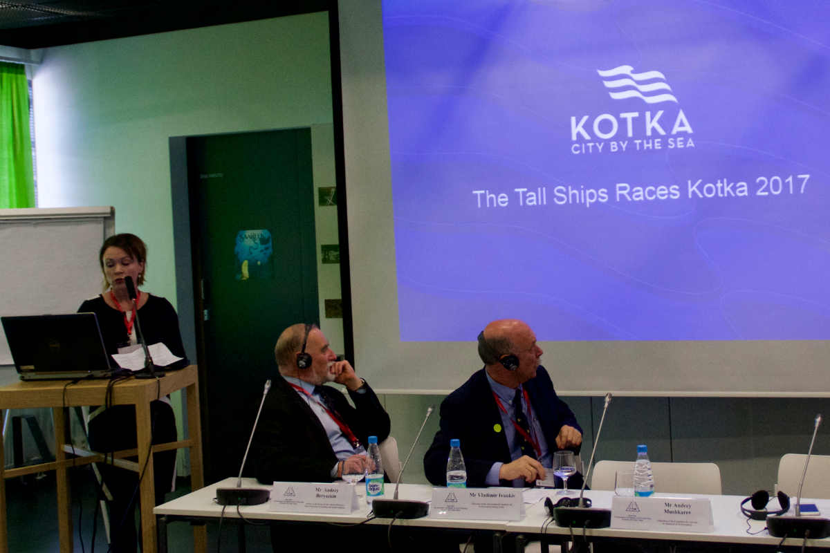 Терхи Линдхольм, директор по развитию администрации Котки, представила проеект Tall Sips Race 2017