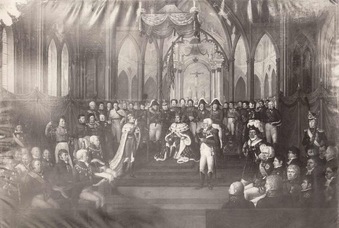 Johan Munch / Коронация Бернадота, как норвежского короля Карла II. 7 сентября 1818 год