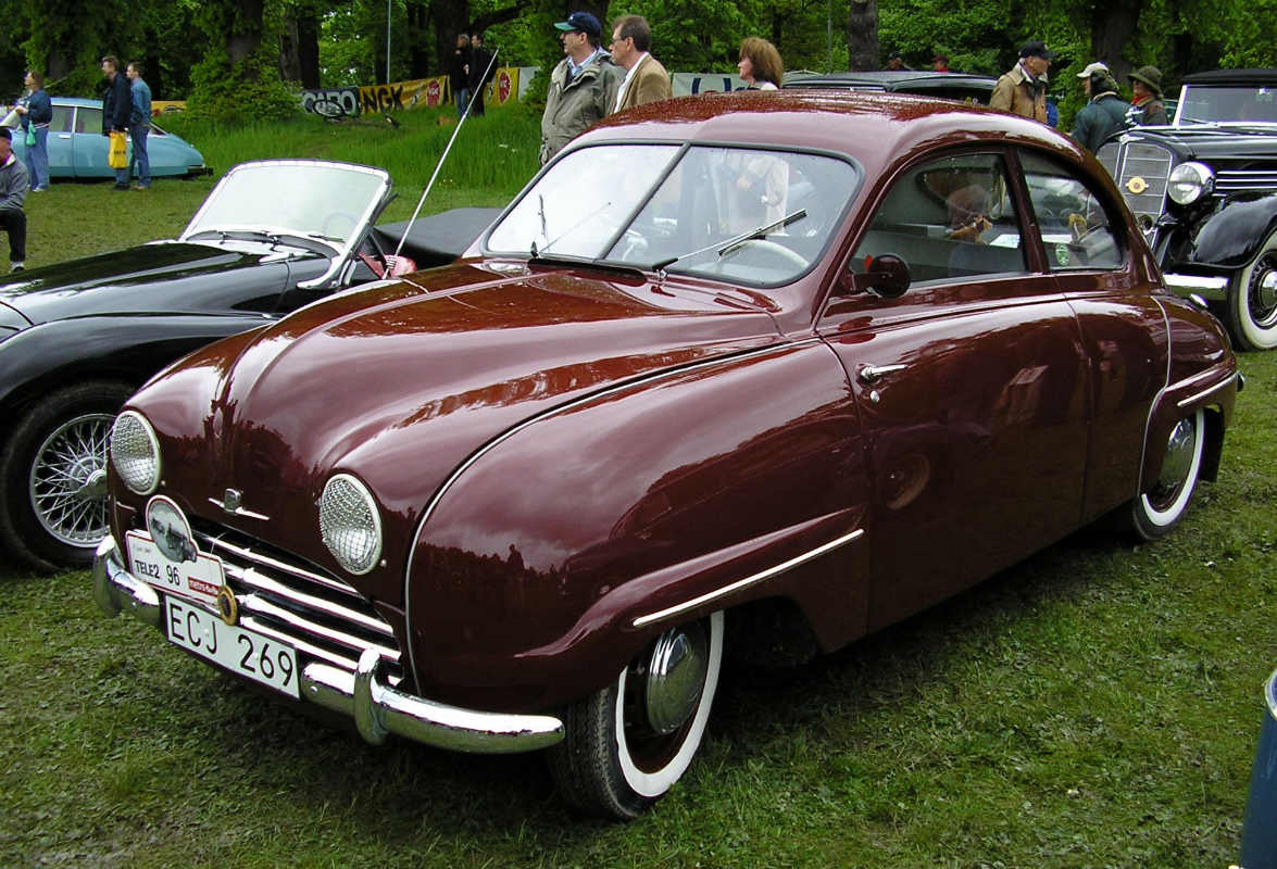 wiki/Стокгольм. Швеция 2005 год. Saab 92B 1955 года выпуска.