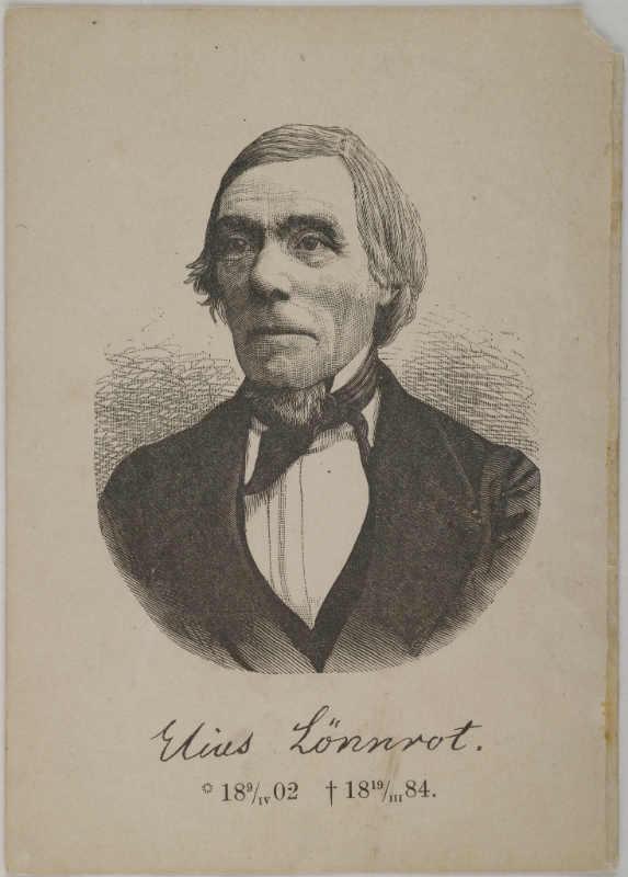 Gallen-Kallelan Museo / Photograph of a print of Elias Lönnrot.