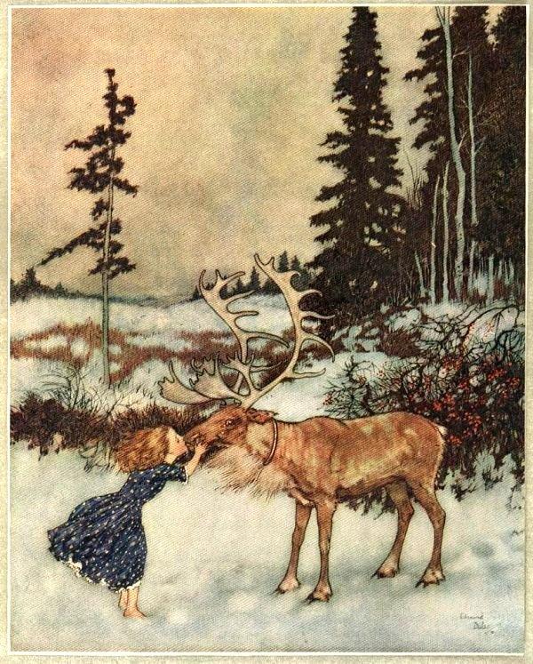 Иллюстратор Эдмунд Дюлак (Edmund Dulac). «Снежная королева» 1911 г.