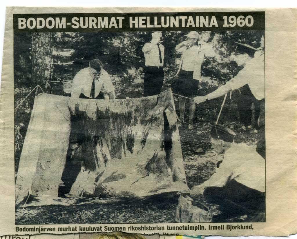 Вырезка из финской газеты 1960 года