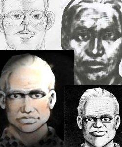 Рисунки портрета преступника, составленные по описаниям свидетелей