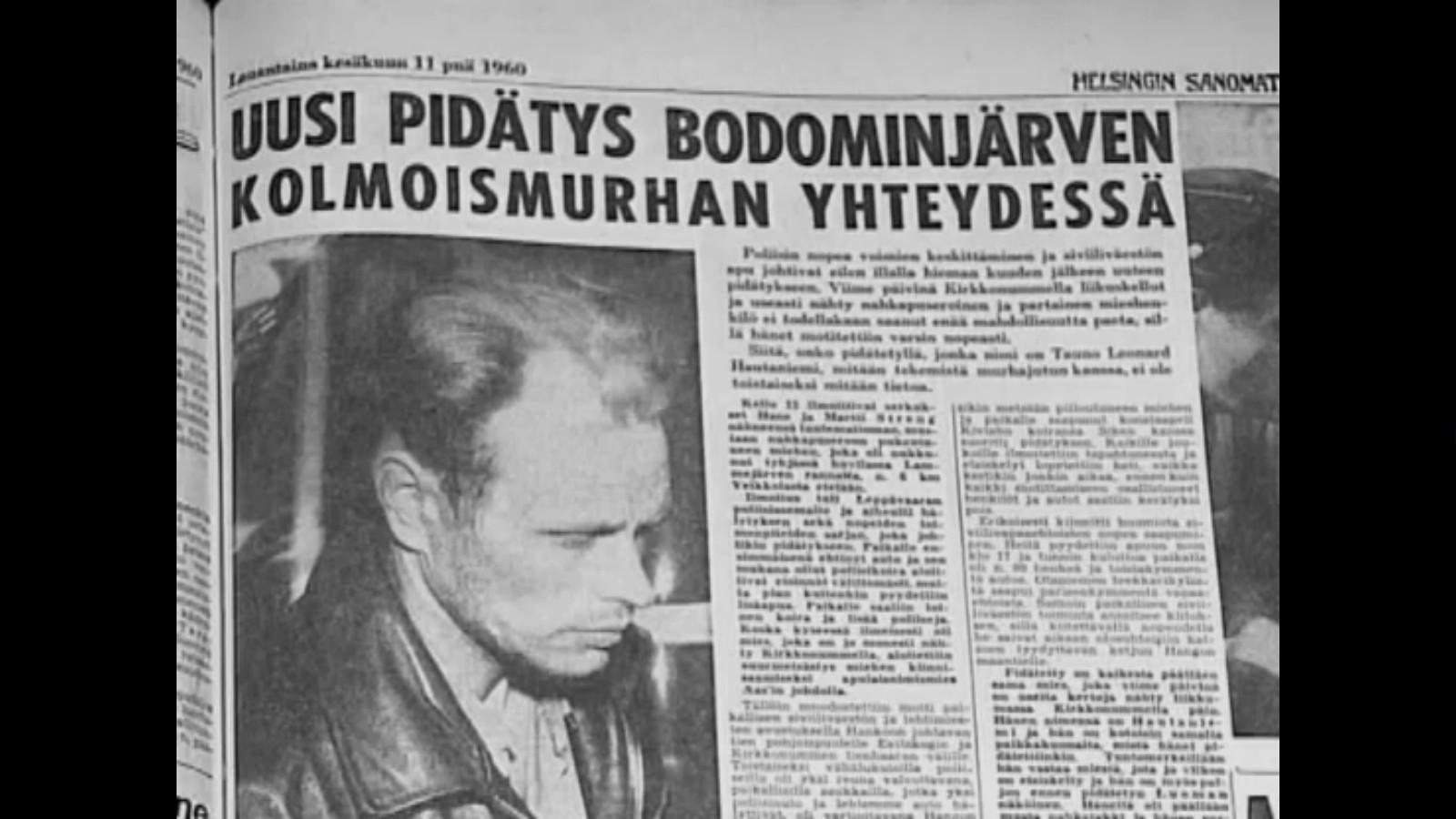 Финские газеты писали об очередных подозреваемых в страшном убийстве - теперь это Нилс Густафссон, единственны выживший в той трагедии