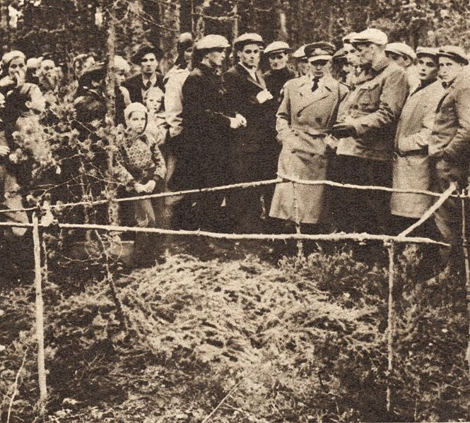 Место захоронения Кюлликки Саари. Фото из газеты Suomen kuvalehti N-43 24.10.1953 года