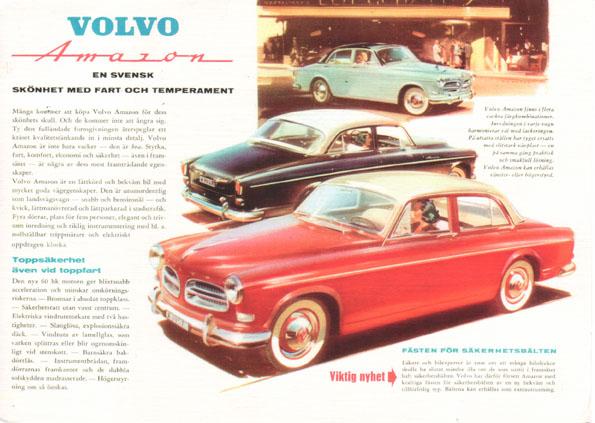 Фото: volvoamazonpictures.se/ Реклама в шведской прессе 1957 года