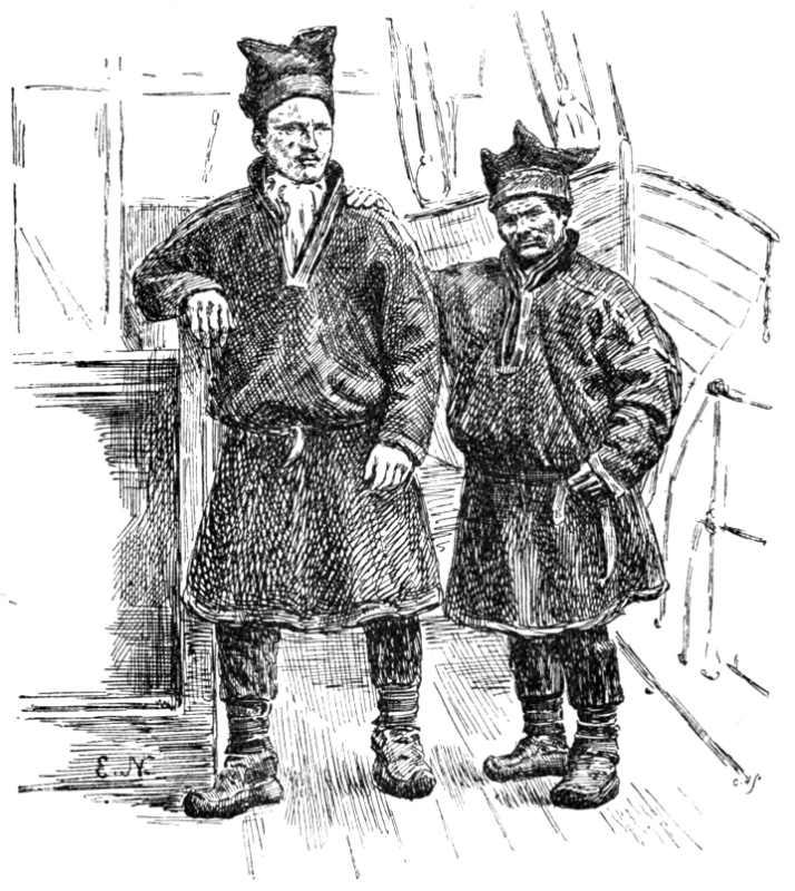 Фото: wikipedia.org/ Самуэль Балту и Оле Нильсен Равна - саамы, участники гренландской экспедиции Нансена.