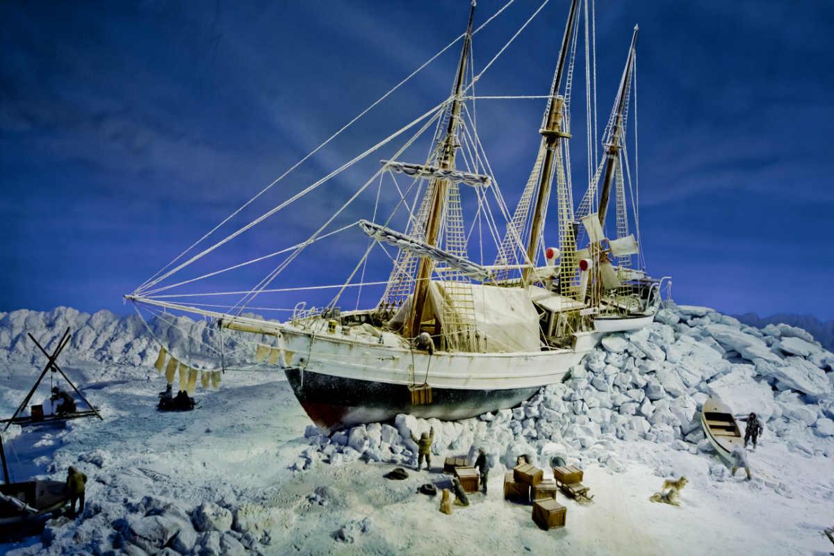 Фото: Вячеслав Титов / Макет корабля «Фрам» во льдах. Музей «Фрам» .Осло. Норвегия.