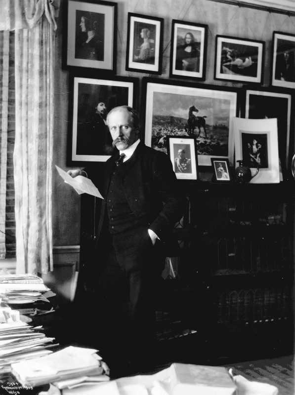 Фото: Norwegian Museum of Cultural History/ ПодробнееНансен в своём кабинете в «Пульхёгде», 1909 год