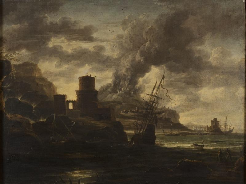 Неизвестный художник . Национальный музей Швеции/ В гавани. Приблизительно 1780 г