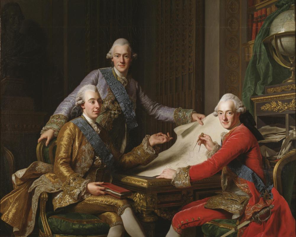 Художник Александер Рослин. Национальный музей Швеции / Король Густав III с братьями