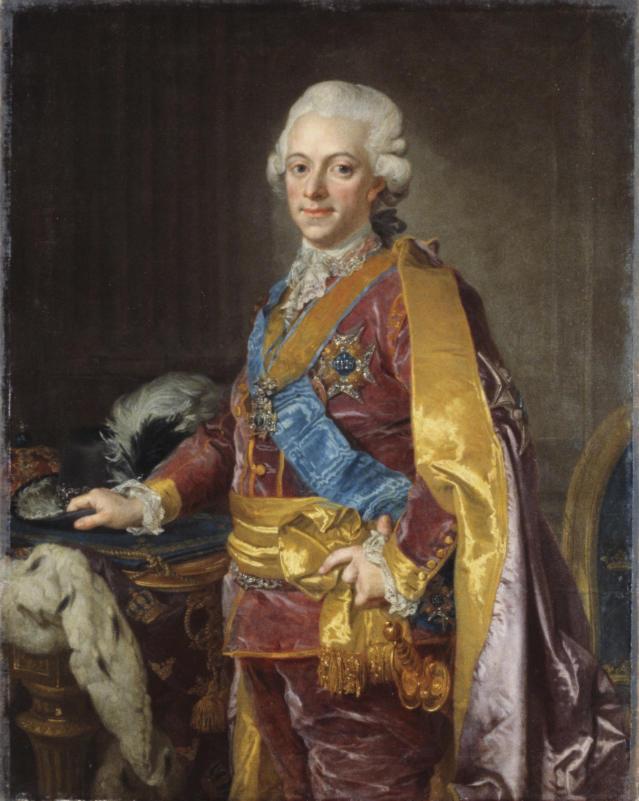 Художник Лоренц Паш младший. Национальный музей Швеции / Густав III, Король Швеции 1772-1792