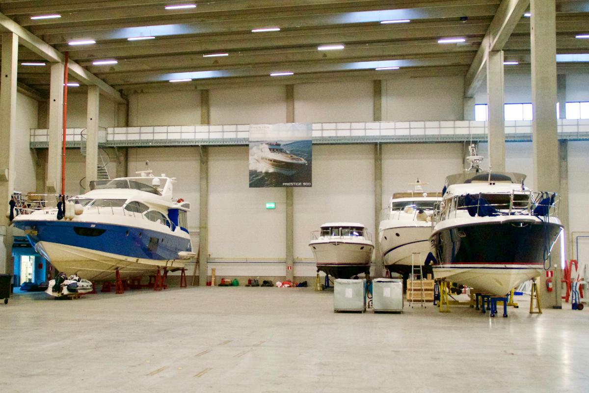 Фото: ScandiNews / Зимнее хранение яхт в Финляндии, недалеко от границы с Россией