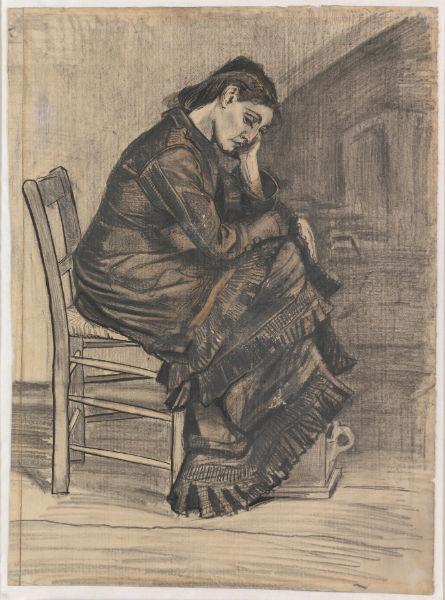 Винсент Ван Гог. Сидящая женщина. 1882. Из коллекции музея Крёллер-Мюллер, Оттерло,  Нидерланды.Фото: Рик Кляйн Готинк