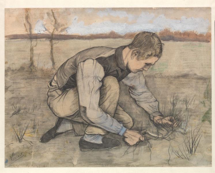 Винсент Ван Гог. Мальчик с серпом. 1881. Из коллекции музея Крёллер-Мюллер, Оттерло, Нидерланды.Фото: Рик Кляйн Готинк
