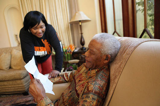 flickr.com/photos/nelson_mandela_centreofmemory/  Zindzi Mandela with her father, Nelson Rolihlahla Mandela on Mandela Day