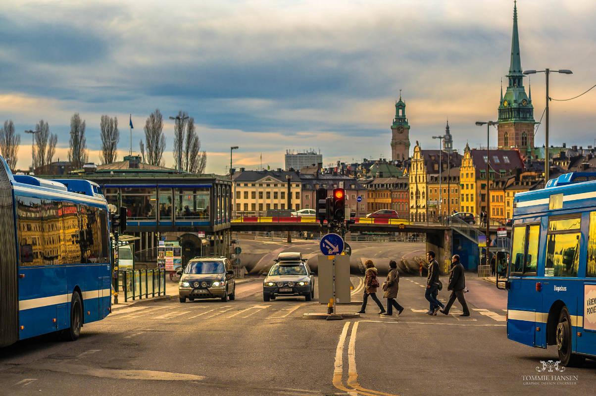 flickr.com/photos/tommiehansen/  Crossing, Slussen (Stockholm)